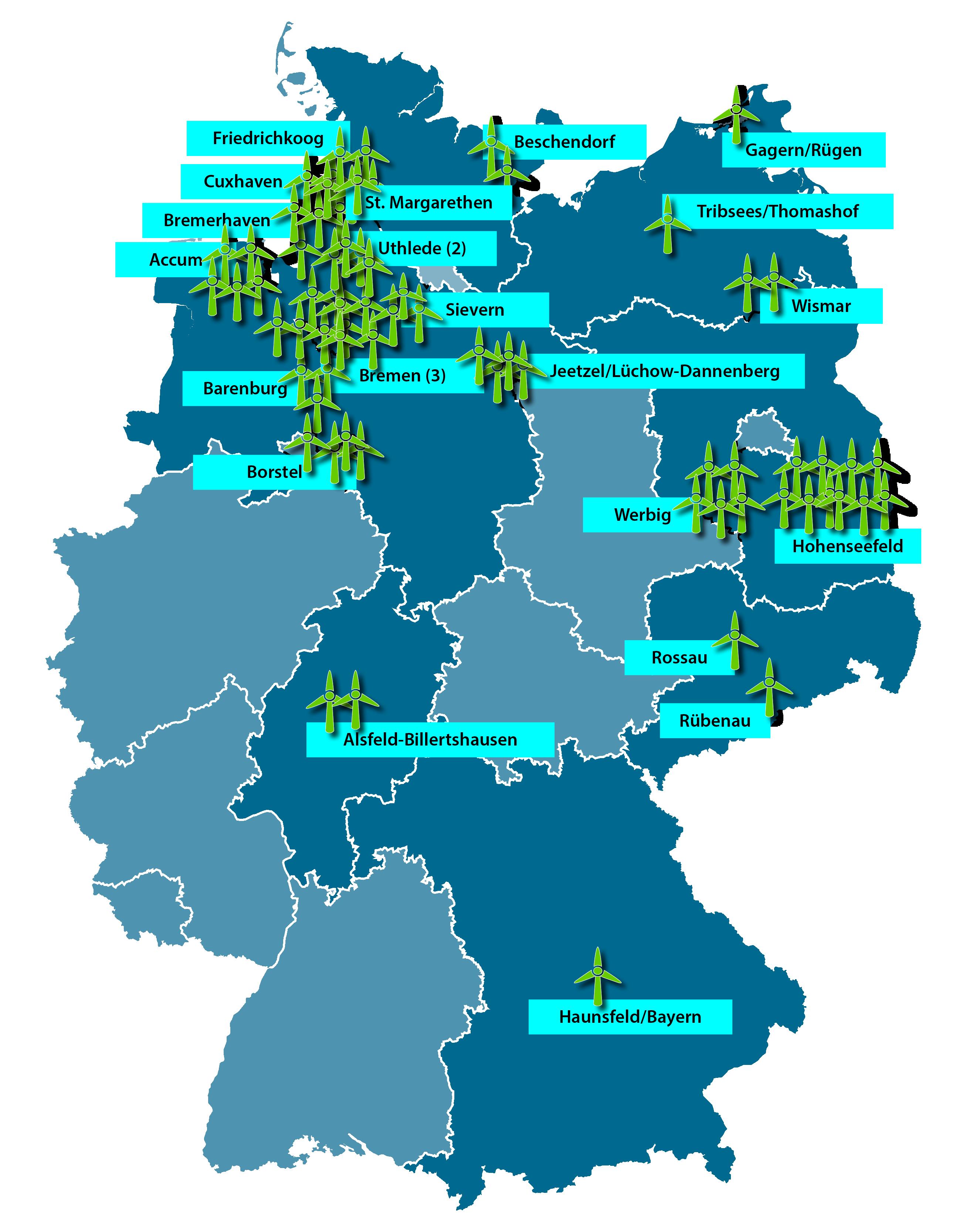 Standorte GefuE